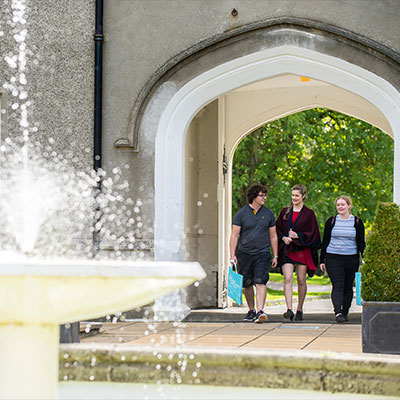 students walking on the Lampeter campus