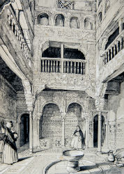 Lewis's sketches and drawings of the Alhambra