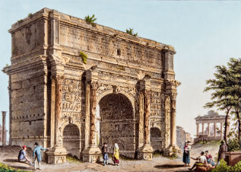 Arch of Septimus Severus from Dubourg's views of Rome