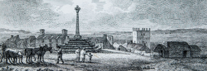 Market cross, St. Davids cathedral from: The architectural antiquities of Wales by Charles Norris.