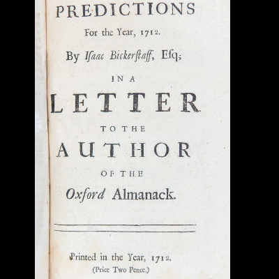 Predictions for the year 1712