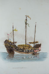 Trading ship from Costume of China by William Alexander