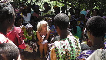 Luci Attala with the Bore community in Kenya