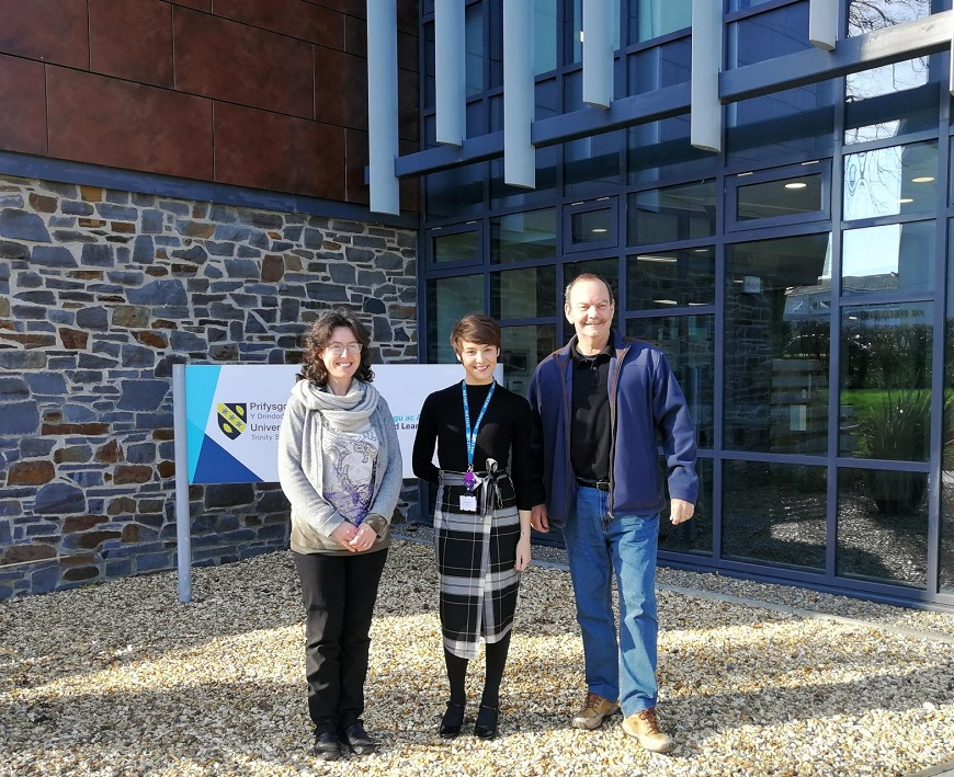 Former student, Sophie Kift, is invited to give a talk at Carmarthen Business School