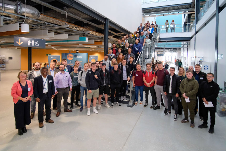 UWTSD has welcomed its first cohort of Engineering and Advanced Manufacturing Degree Apprentices to the University's IQ building in SA1.