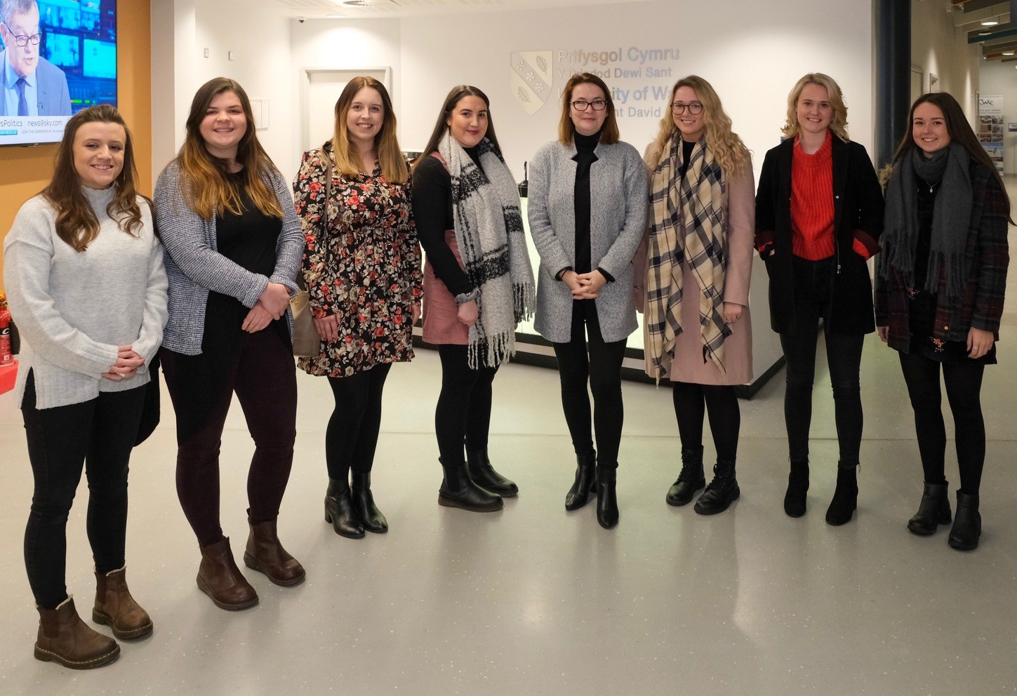 Student teachers from UWTSD's Athrofa meeting Education Minister Kirsty Williams