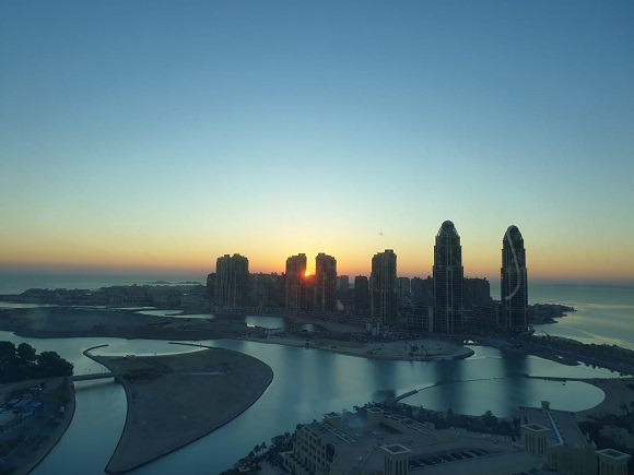 Landscape picture of Doha, Qatar